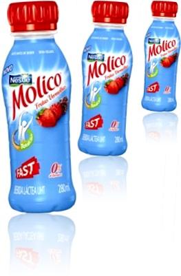 nestlé molico fast bebida láctea light sabor frutas vermelhas