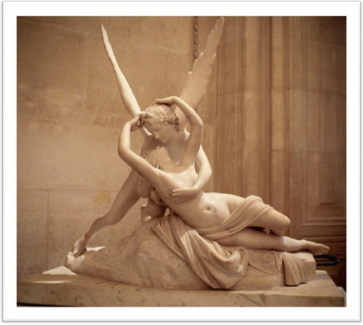 Psyche revived by the kiss of Eros -  Antonio Canova, Louvre