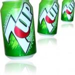 latas de refrigerante de limão seven up, soda limonada