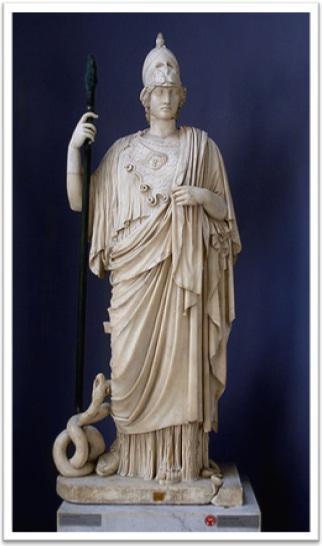 minerva, atena, vatican, museum, escultura, museu do vaticano
