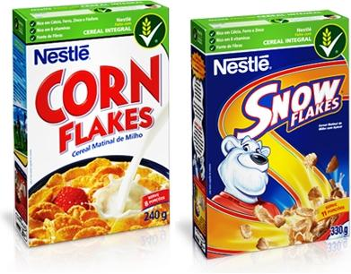 exemplos de noun strings no supermercado, corn flakes nestle, snow flakes nestlé