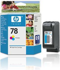 caixa de cartucho de tinta colorida para impressora marca hewlett-packard hp invent 78