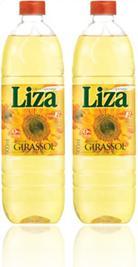 garrafas plásticas de óleo de semente de girassol marca liza