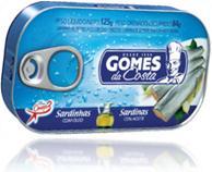 lata de metal de sardinhas grandes com azeite marca gomes da costa