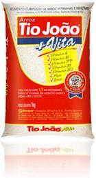 pacote de arroz parbolizado tio joão mais vitaminas e sais minerais