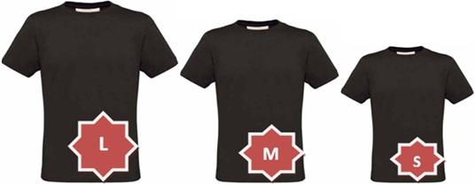 camisetas pretas tamanhos grande, médio, pequeno, t-shirt large, medium, small