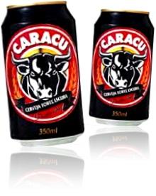 latas de cerveja forte e escura caracu ambev cara de cu