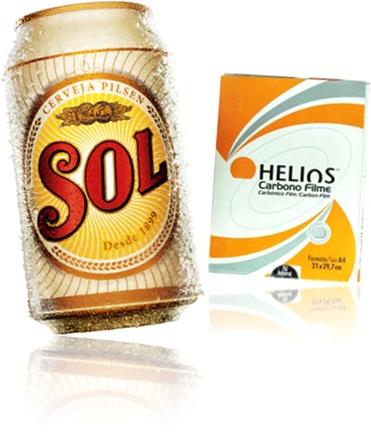 cerveja sol e papel carbono helios carbex, mitologia, supermercado