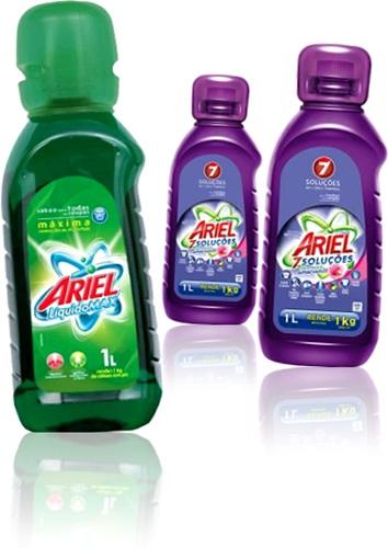 sabão líquido ariel, lavanderia, perfume, tira manchas, lava roupas