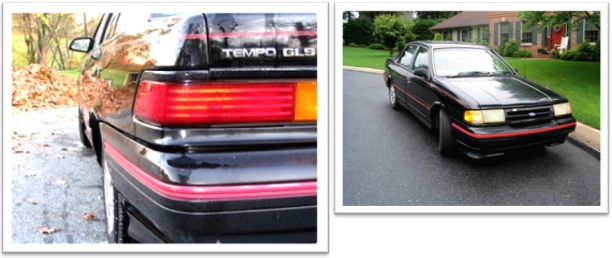 carro ford tempo gls, 4 portas, preto, taurus, teto solar
