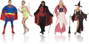 fantasias de carnaval de super herói, sininho, vampiro, empregada e bruxa