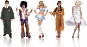 fantasias de carnaval de harry potter, hippie, sensual, índio e marilyn monroe