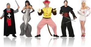 fantasias de carnaval medieval, sereia, macaco, ninja e enfermeira
