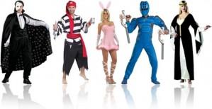 fantasias de carnaval fantasma da ópera, pirata, coelhinho e coelhinha da playboy, power ranger e princesa