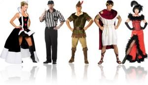 fantasias de carnaval da rainha de copas, árbitro, renascentista, romana e garota de salão