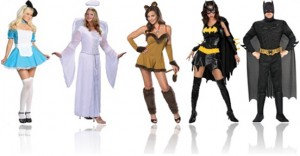 fantasia de carnaval de alice, anjo, animal, mulher morcego e homem morcego