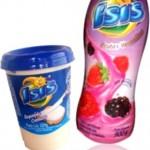requeijão cremoso e iogurte frutas vermelhas isis, ísis
