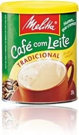 lata de café com leite melitta tradicional cremoso imagem de grão de café e xícara