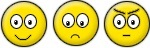 emoticon smiley happy sad angry feliz triste chateado com raiva