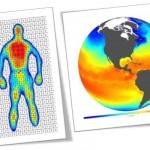 temperatura, corpo humano, planeta terra, satélite, oceanos, continentes, calor, frio