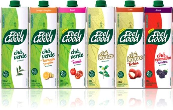feel good chá verde, chá branco e chá vermelho