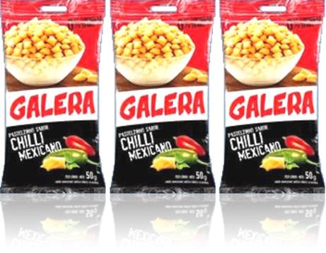 salgadinho galera mabel sabor chilli mexicano, pimenta malagueta