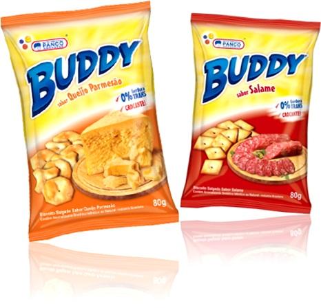 panco buddy biscoitos salgados sabores queijo parmesão e salame