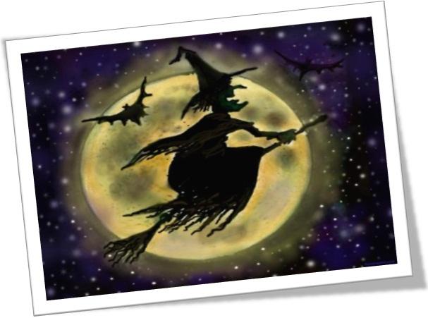 halloween symbols witch and her broom dia das bruxas símbolos feiticeira bruxa e vassoura