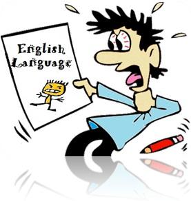homem com medo de inglês lingua inglesa boletim escolar monstro english language