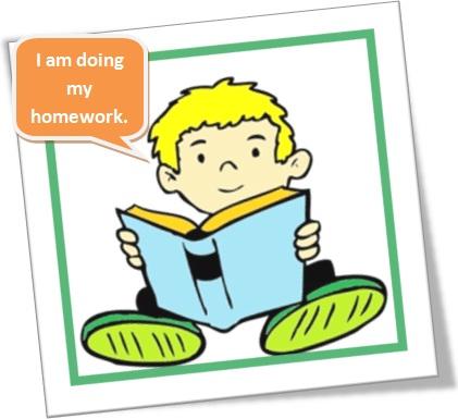 usos de do e make em inglês, do homework, garoto estudando