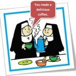 usos de do e make em inglês, freiras fazendo café, make coffee