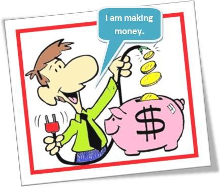 usos de do e make em inglês, make money, homem fazendo dinheiro