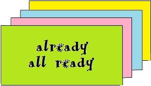 dicas de inglês diferença entre already versus all ready