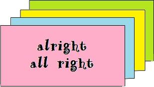 dicas de inglês diferença entre alright versus all right