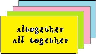 dicas de inglês diferença entre altogether versus all together