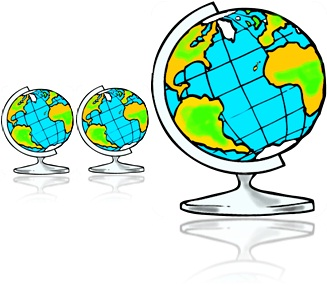 globo terrestre continentes oceanos américa do sul, américa do norte, áfrica, europa, ásia, oceania