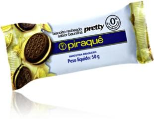 biscoito recheado sanduíche sabor baunilha chocolate pretty piraquê