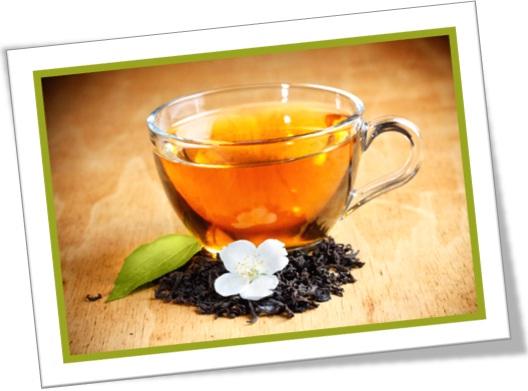xícara de chá de jasmim, cup of jasmine tea, flores