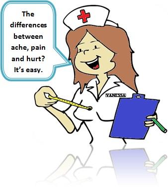 enfermeira vanessa spirandeo explica a diferença entre ache, pain e hurt