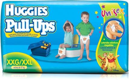 fraldas descartáveis huggies pull-ups unissex menino, menina, coco, xixi