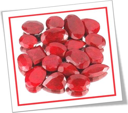 gemas de rubi, pedras de rubi, pedras preciosas