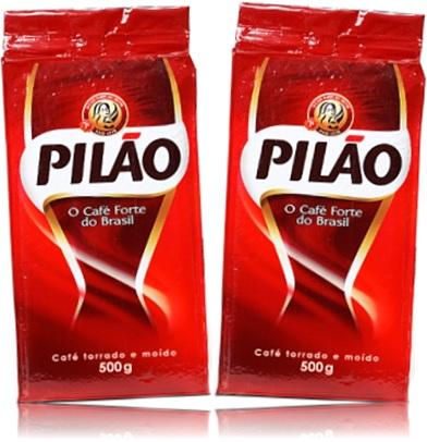 pilão café torrado e moído, café forte do brasil