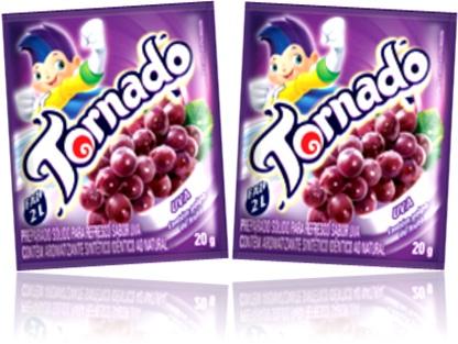 refresco em pó tornado sabor uva