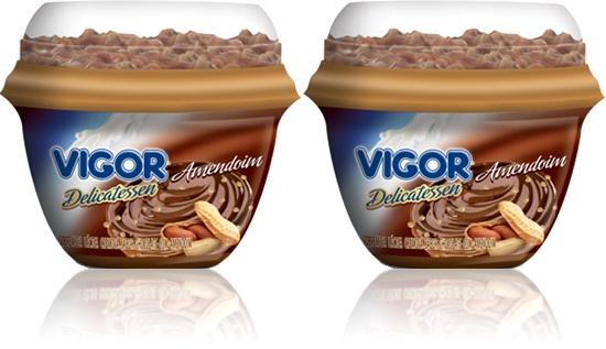 sobremesa de chocolate cremoso ao leite com amendoim delicatessen vigor