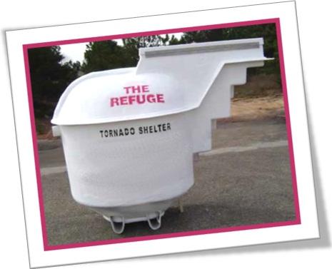 tornado shelter, abrigo contra tornado e tempestade