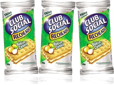 biscoito recheado club social sabor queijo e cebola