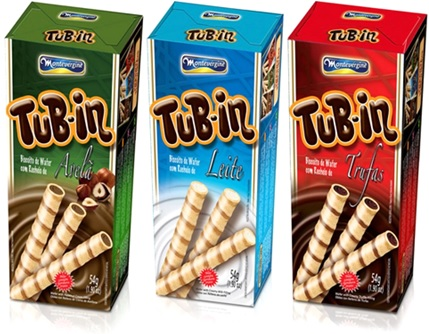 biscoito wafer tub in montevergine sabores avelã, leite e trufas