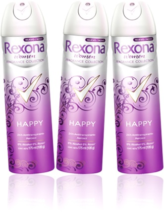 desodorante spray rexona women happy