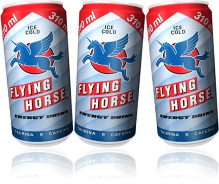 energy drink flying horse, bebida energética