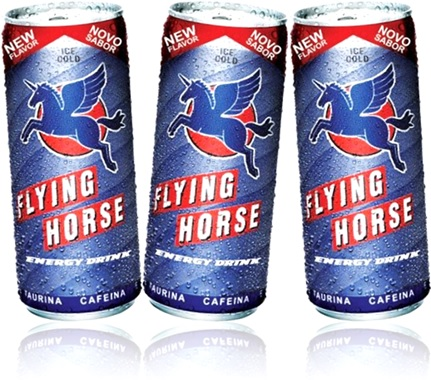 cans of energy drink latas de bebida energética ice cold flying horse